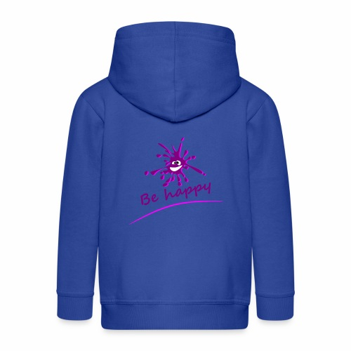 Be Happy pink - Kids' Premium Zip Hoodie