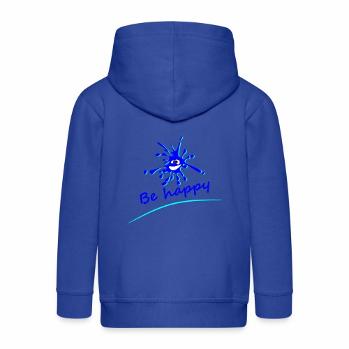 Be Happy - Kids' Premium Zip Hoodie