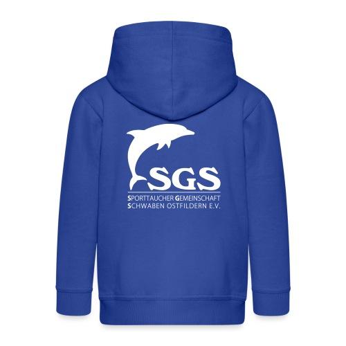 SGS Komplettlogo 2 - Kinder Premium Kapuzenjacke