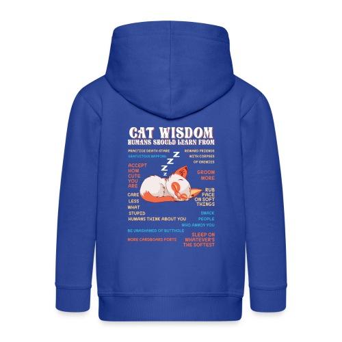 CAT WISDOM - Veste à capuche Premium Enfant