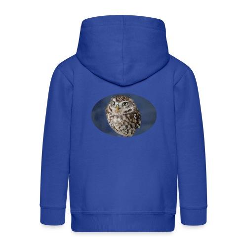 magical owl transparent green background - Kids' Premium Zip Hoodie