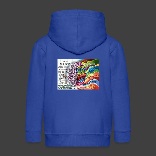 Brain LR - Kids' Premium Zip Hoodie