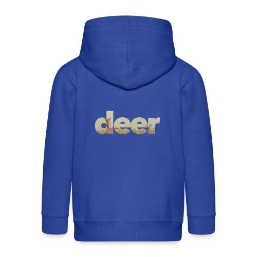 Deer - Kids' Premium Zip Hoodie
