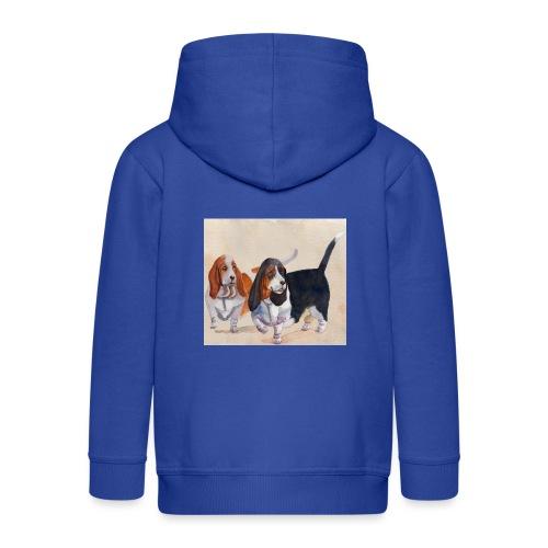 Basset hound_double-trot - Premium hættejakke til børn