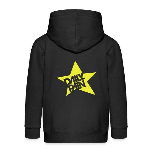 daily pain star - Rozpinana bluza dziecięca z kapturem Premium
