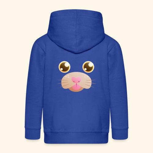 CAT Blep - Kids' Premium Zip Hoodie