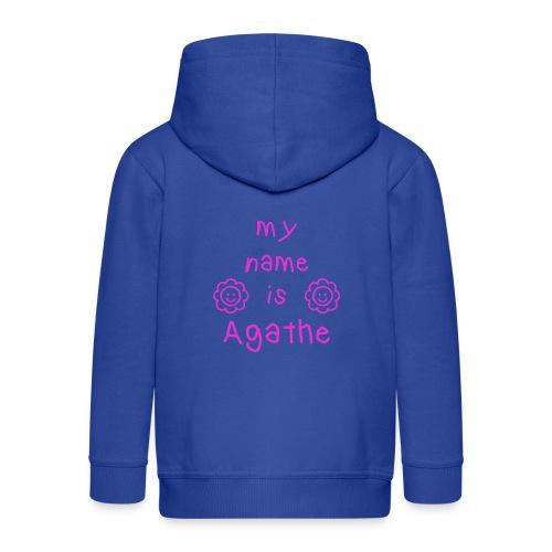 AGATHE MY NAME IS - Veste à capuche Premium Enfant