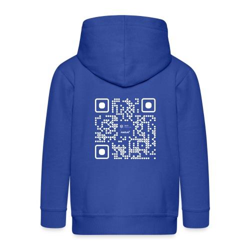 QR - Maidsafe.net White - Kids' Premium Hooded Jacket