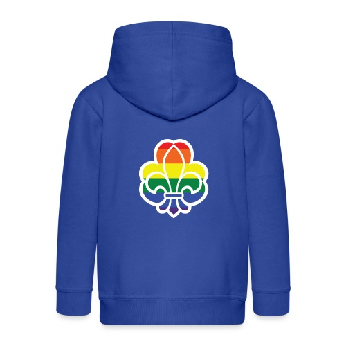 Regnbuespejder jakker og t-shirts mv - Premium hættejakke til børn