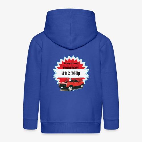 A112 - straight roads - Felpa con zip Premium per bambini