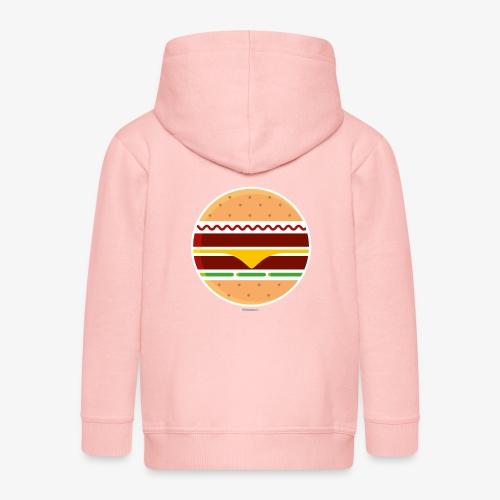 Circle Burger - Felpa con zip Premium per bambini