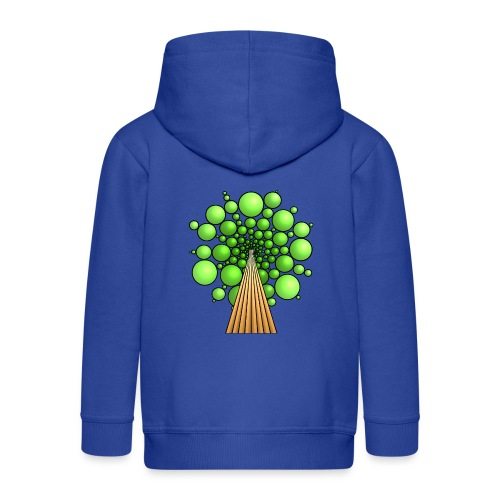 Kugel-Baum, 3d, hellgrün - Kinder Premium Kapuzenjacke