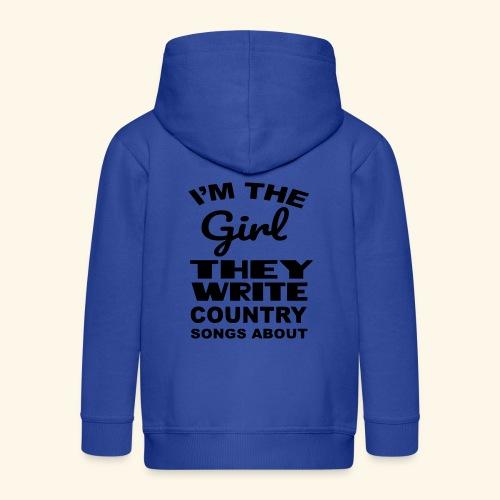 Meisje waar country muziek over wordt geschreven - Kinderen Premium jas met capuchon