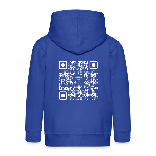 QR The New Internet Should not Be Blockchain Based W - Kids' Premium Hooded Jacket