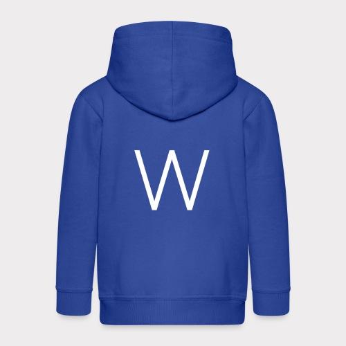 White W - Kids' Premium Zip Hoodie