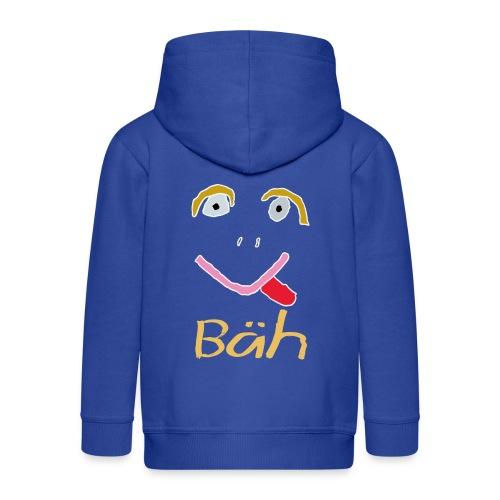 Gesicht Baeh Kontur Hell - Kinder Premium Kapuzenjacke