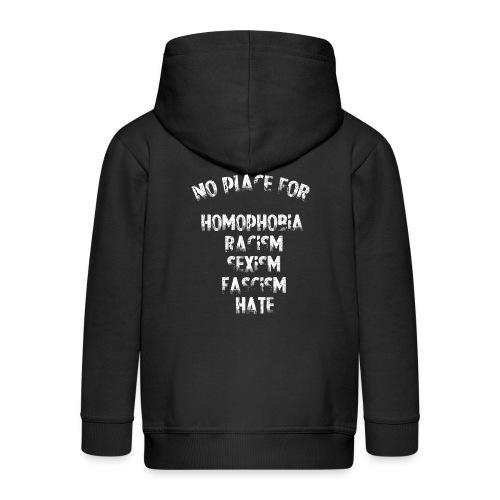 No place for homophobia... - Chaqueta con capucha premium niño