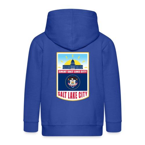 Utah - Salt Lake City - Kids' Premium Zip Hoodie