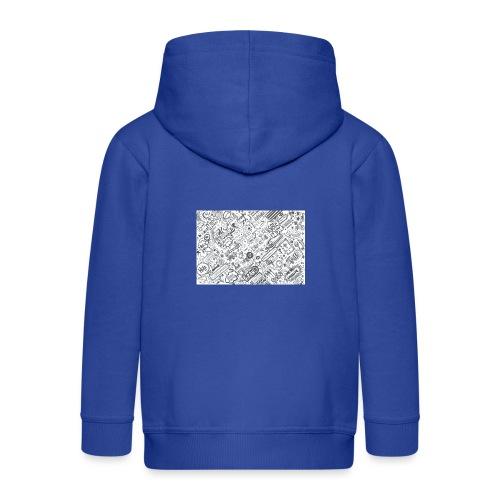 Doodle - Rozpinana bluza dziecięca z kapturem Premium