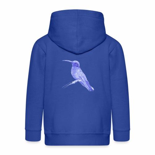 Hummingbird with ballpoint pen - Kids' Premium Zip Hoodie