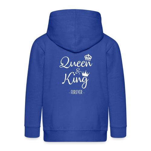 Queen and King Forever - Chaqueta con capucha premium niño
