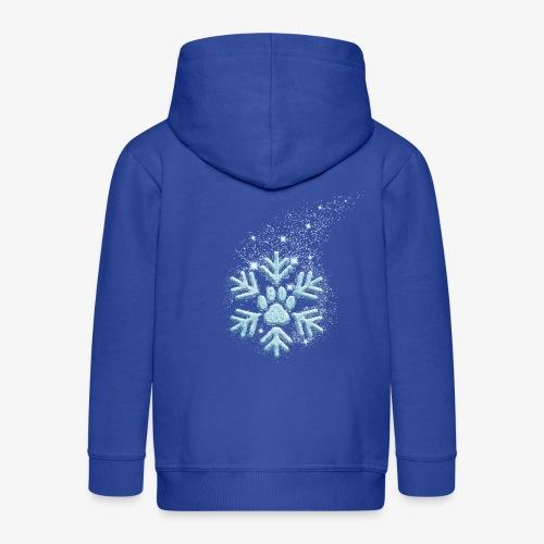 dog paw snowflake - Kinder Premium Kapuzenjacke