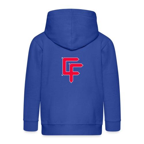 CF Final White Border t shirts - Kids' Premium Zip Hoodie