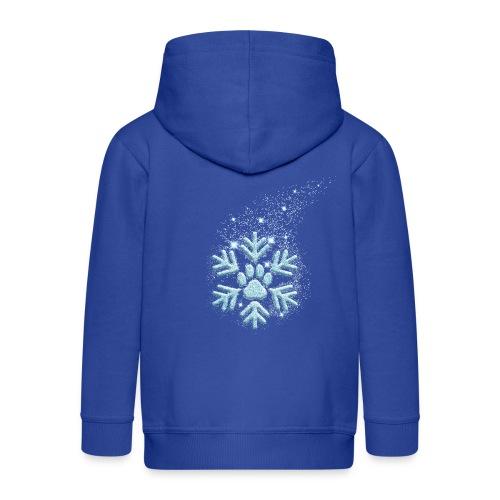 Vorschau: dog paw snowflake - Kinder Premium Kapuzenjacke