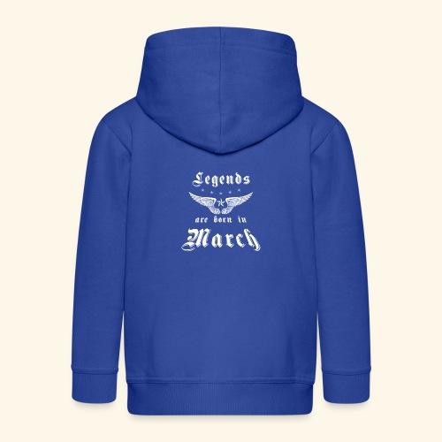 Legends are born in March - Kinder Premium Kapuzenjacke