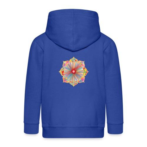 Colored Lotus - Kids' Premium Zip Hoodie