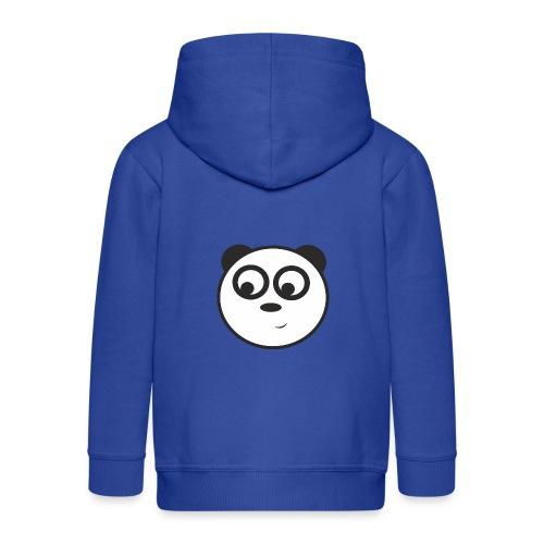 panda face /cara de panda - Chaqueta con capucha premium niño