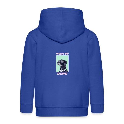 dog whatsup dogg - Rozpinana bluza dziecięca z kapturem Premium