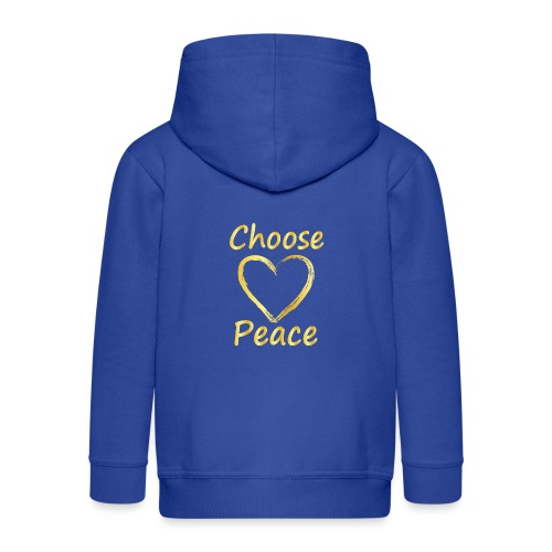 Choose Peace - Kids' Premium Hooded Jacket