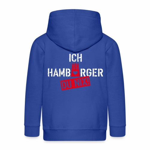 108 Ich Hamburger Du Nix Wappen Spruch Humor - Kinder Premium Kapuzenjacke