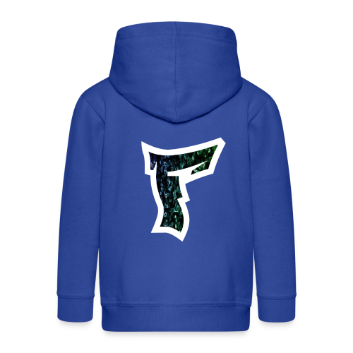 Rauch in Farben mit F Logo in Weiß - Kinder Premium Kapuzenjacke