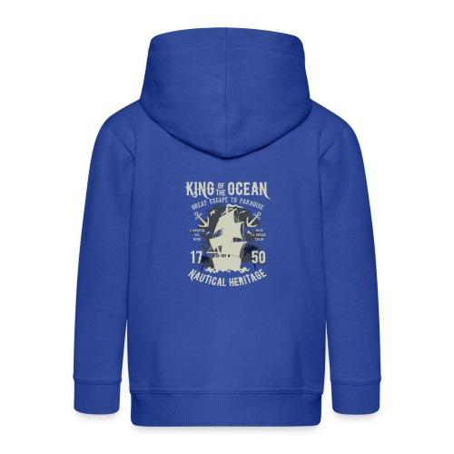 King Of The Ocean - Kinder Premium Kapuzenjacke