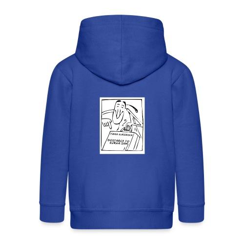 firma kurierska przod - Rozpinana bluza dziecięca z kapturem Premium