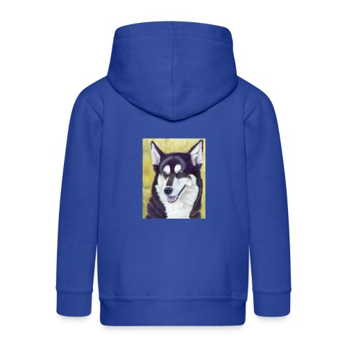 Siberian husky - Premium hættejakke til børn