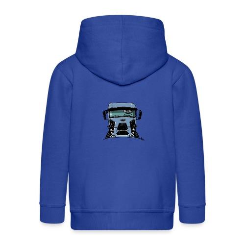 0812 F truck blue - Kinderen Premium jas met capuchon