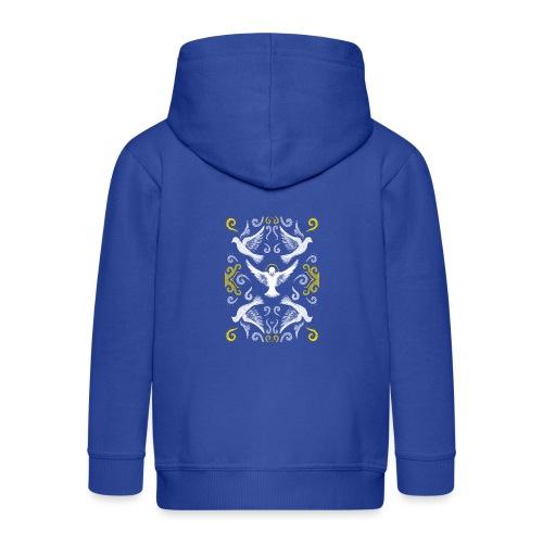 Doves Patterns - Kids' Premium Zip Hoodie