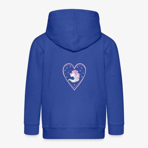Unicorn - Felpa con zip Premium per bambini