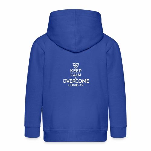 Keep calm and overcome - Rozpinana bluza dziecięca z kapturem Premium