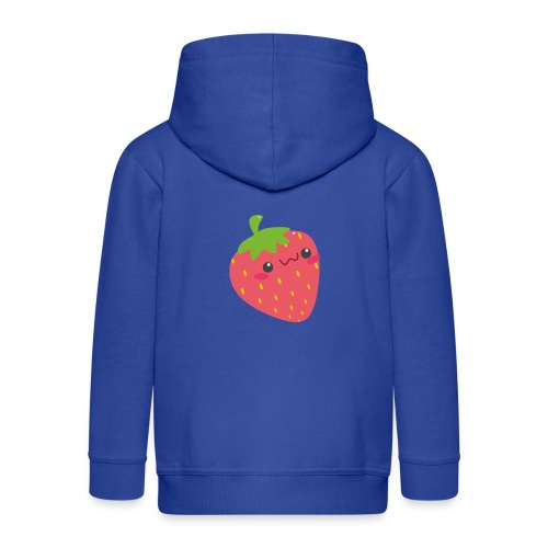 Erdbeere - Kinder Premium Kapuzenjacke