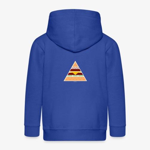 Triangle Burger - Felpa con zip Premium per bambini