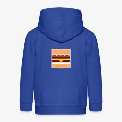Square Burger - Felpa con zip Premium per bambini