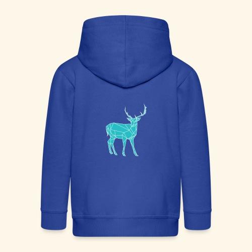 Blue Reindeer - Kids' Premium Zip Hoodie