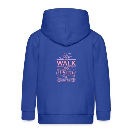 walk pink - Kids' Premium Zip Hoodie