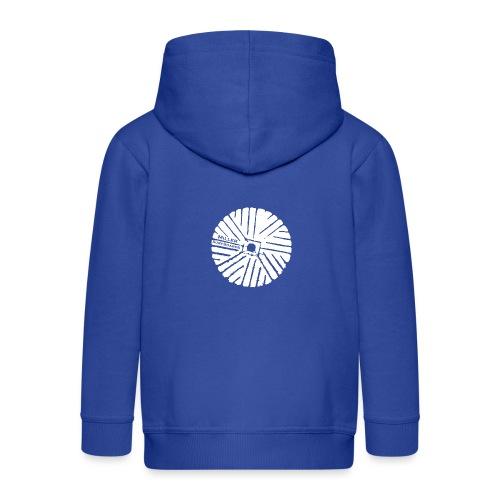 White chest logo sweat - Kids' Premium Zip Hoodie