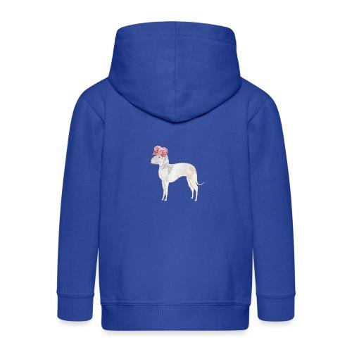 bedlington terrier with roses - Premium hættejakke til børn