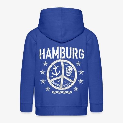 105 Hamburg Peace Anker Seil Koordinaten - Kinder Premium Kapuzenjacke